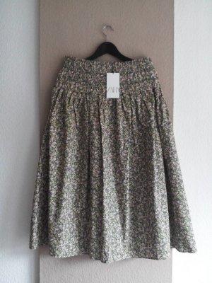 Zara Midi Skirt multicolored cotton