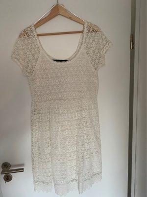 ZARA gehäkeltes Kleid weiß