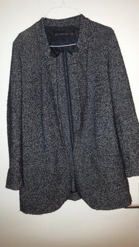 Trf by Zara Frock Coat white-black mixture fibre