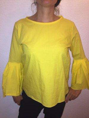 Zara gelbe Tunika mit Trompetenärmeln M wie neu sommerliche Impressionen