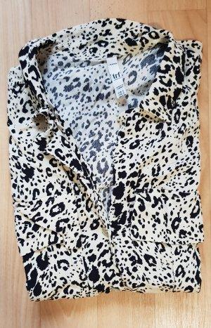 Zara Gemustertes  Bluse Hemd Hemdbluse