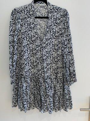 Zara gemustertes Kleid schwarz/weiß