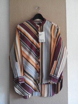 Zara gestreifte Hemdbluse aus Baumwolle und Leinen, Campaing Collection, Größe S oversize, neu