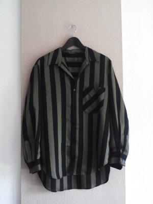 Zara gestreifte Hemdbluse, Premium Collection, Größe M, neu
