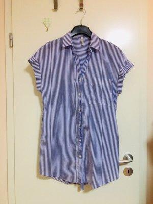 Zara Gestreifte lange Bluse Hemdkleid Blusenkleid, mit Streifen