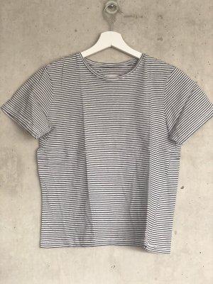 Zara gestreiftes shirt schwarz weiß