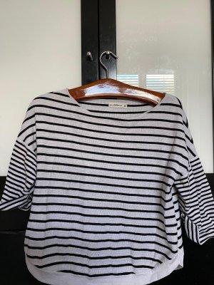 Zara Gestreiftest Baumwoll-Shirt in M