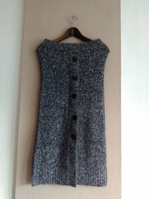 Zara Jupe tricotée gris anthracite acrylique