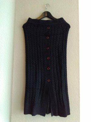 Zara Jupe tricotée gris foncé acrylique