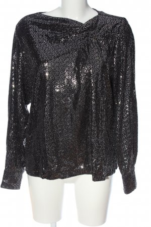 Zara Blusa brillante negro look casual