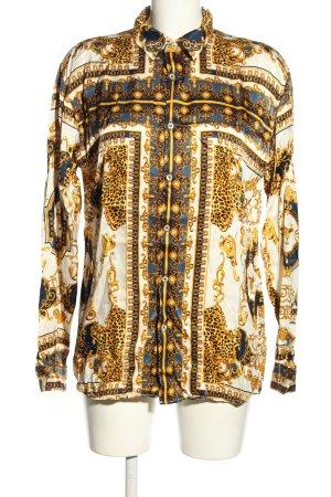 Zara Glanzende blouse volledige print casual uitstraling
