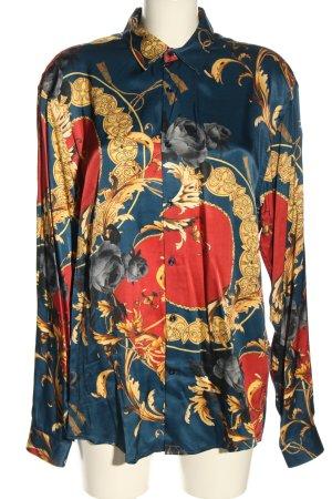 Zara Blusa brillante stampa integrale stile casual