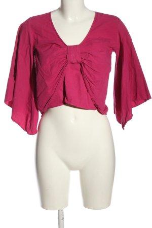 Zara Glanzbluse pink Casual-Look