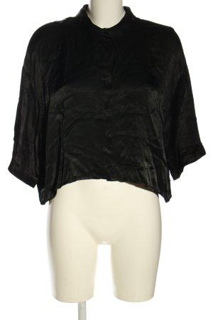 Zara Glanzende blouse zwart casual uitstraling