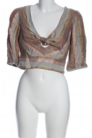 Zara Blusa brillante multicolor look casual