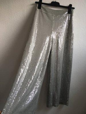 Zara Pantalone culotte argento-grigio chiaro