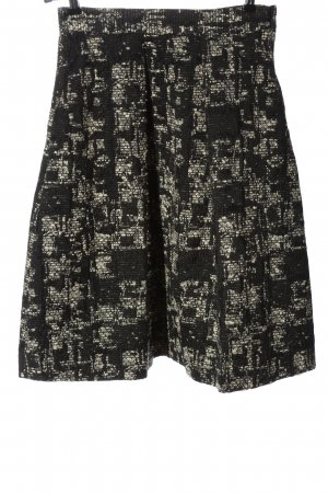 Zara Glockenrock schwarz-wollweiß abstraktes Muster Casual-Look