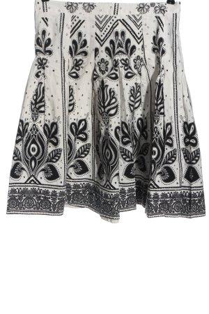 Zara Glockenrock weiß-schwarz abstraktes Muster Elegant