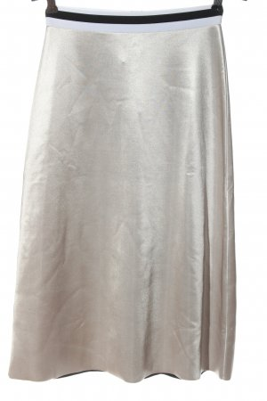 Zara Rozkloszowana spódnica srebrny Elegancki