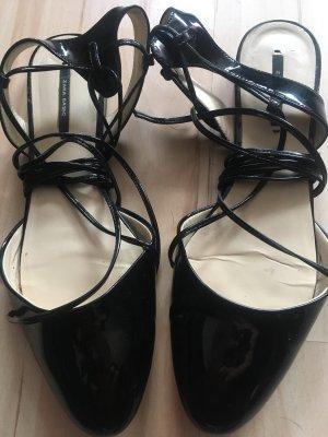 Zara Ballerina di pelle verniciata nero