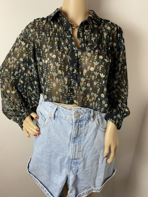 zara gr l damen bunte crop bluse leciht gebraucht sommer shirt