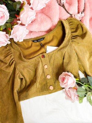 zara gr s damen bluse beige braun neu mit etikett sommer crop top