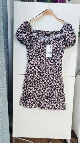 Zara Gr. XS 34 Sommer Kleid kurz mit Gänseblümchenprint