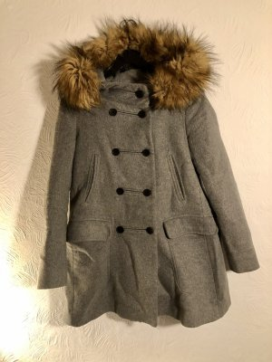 ZARA GRAU MANTEL (+ zara knit pullovers kostenlos)