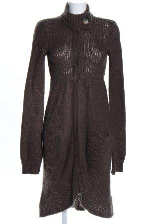 Zara Cardigan a maglia grossa marrone stile casual