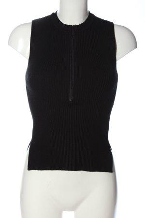 Zara Jersey de punto grueso negro look casual