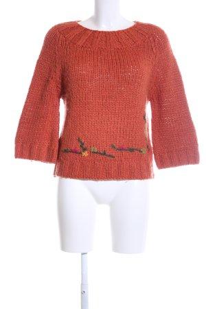 Zara Grobstrickpullover mehrfarbig Casual-Look