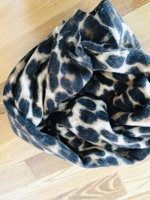 Zara Fringed Scarf black-camel mixture fibre
