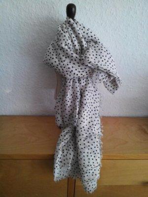Zara Großes Halstuch in weiß-schwarz Polka Dot Design