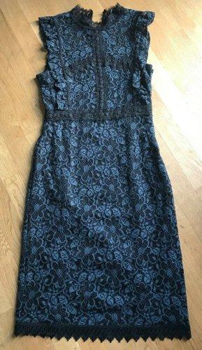 Zara Guipure Kleid blau schwarz Gr. L neu mit Etiket
