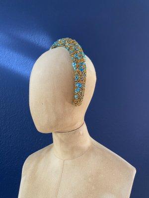 Zara Cerchietto per capelli turchese-beige