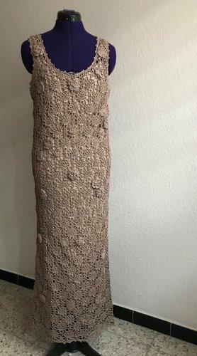 Zara Häkelkleid mit Unterkleid beige Gr. M neu mit Etikett