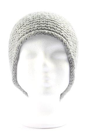Zara Bonnet en crochet gris clair Motif de tissage style décontracté