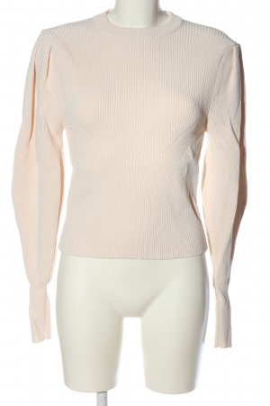 Zara Pull en crochet crème style décontracté