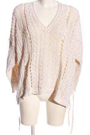 Zara Crochet Sweater pink casual look