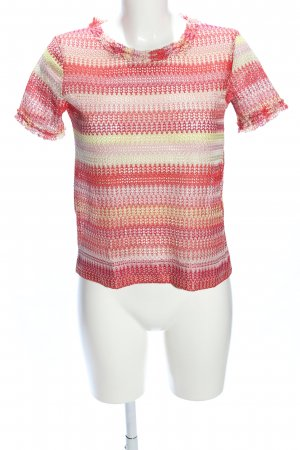 Zara Crochet Shirt striped pattern casual look