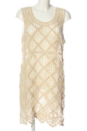 Zara Strickkleid creme Webmuster Elegant