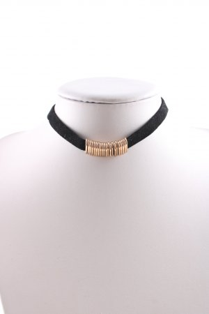 Zara Halskette schwarz-goldfarben Casual-Look