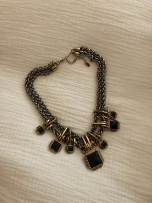 Zara Halskette Collier Panzerkette Top Blogger Gold Schwarz