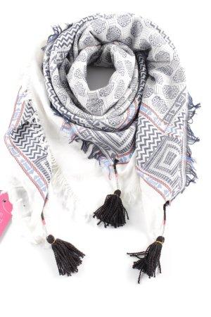 Zara Foulard motif abstrait style décontracté