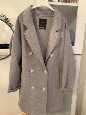 Zara Płaszcz oversize jasnoszary