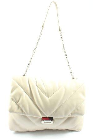 Zara Handtasche wollweiß Steppmuster Elegant