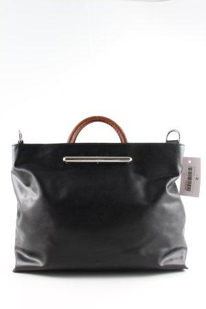 Zara Handtasche schwarz-braun Business-Look