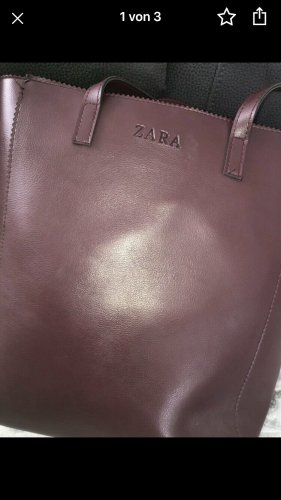 Zara Borsetta bordeaux-marrone-rosso