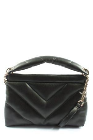 Zara Handtasche schwarz Steppmuster Elegant