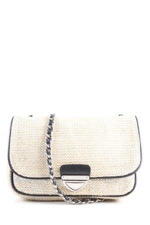 Zara Handtasche wollweiß-schwarz Casual-Look